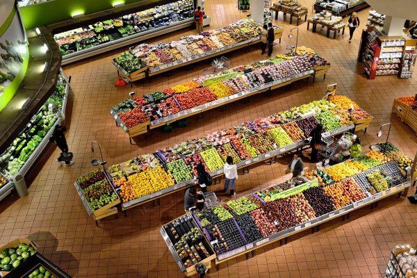 Overzicht suppermarkt
